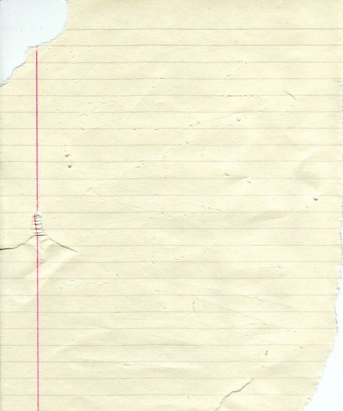 ripped paper legal pad