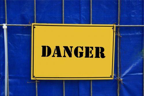 risk warning billboard