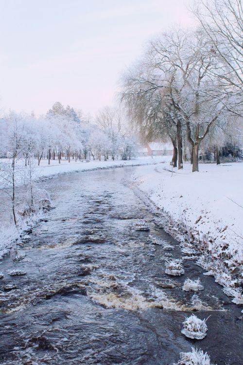 river wintry winter