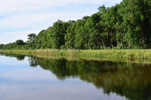 river mirroring water