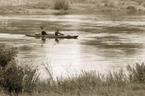 river paddler bank