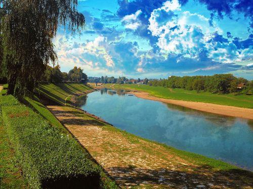 vanduo,vasara,scena,riverlandscpe,kreivė,dramatiškas,dangus,oras,diena,atspindys