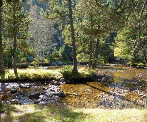 river mountain nature