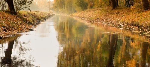 river mirroring bridge