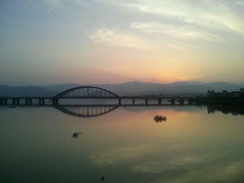 river bridge glow