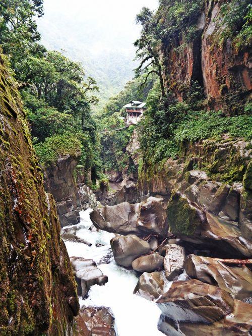 river waterfalls ecuador