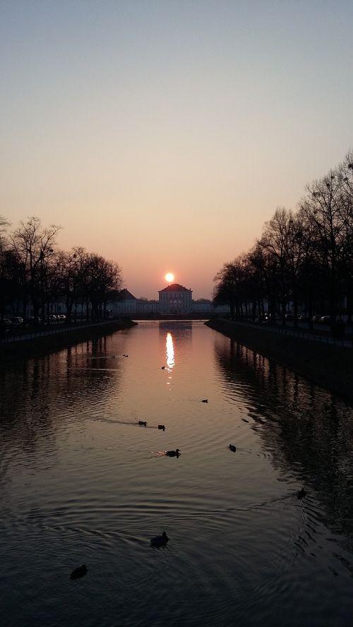 river dusk backlight