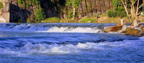 river water waterfalls