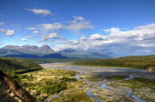 river mountains landscape