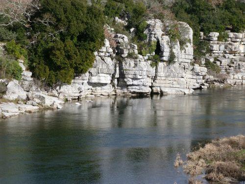 upė,vandens telkiniai,kraštovaizdis,ardèche,vasaros atostogos,ramus,apmąstymai