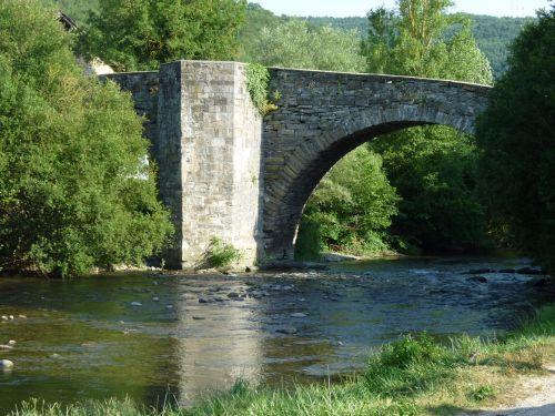 river landscape bridge