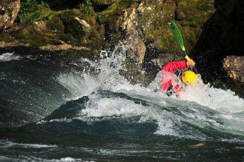 river kayak wave