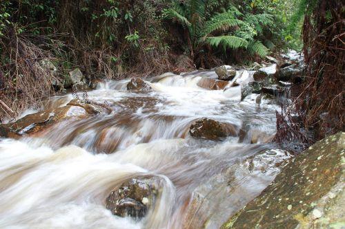 river gushing running
