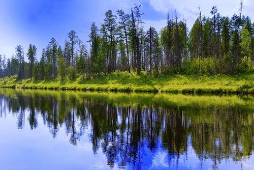 river  peleduy  yakutia