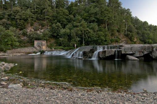 upė,krioklys,ardeche,vanduo,gamta,romantiškas,kraštovaizdis,balsas,mėlynas
