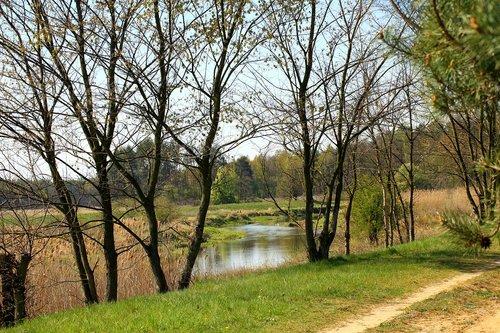 river  landscape  spring