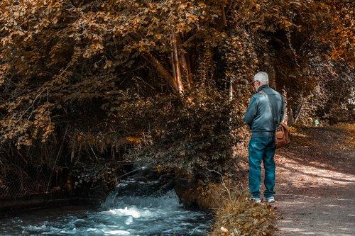 river  fisherman  nature