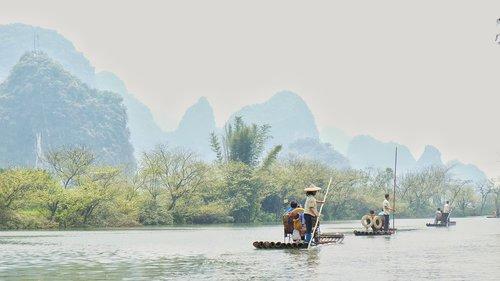 river  guilin  china