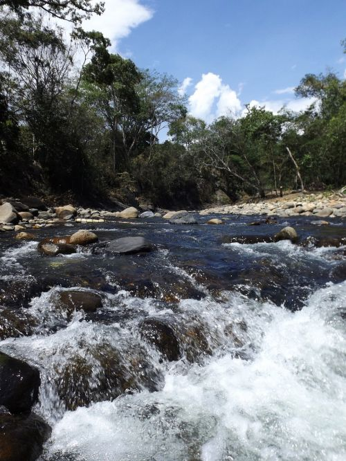 river water waterfall