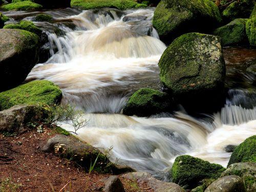 river waterfall flowing water