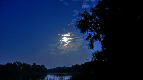 river moonlight summer
