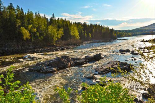 river flowing landscape