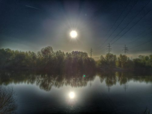 river water sun