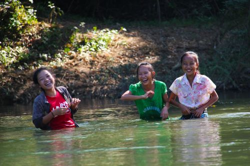 river children laughing