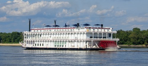 river boat  paddle-wheel  riverboat