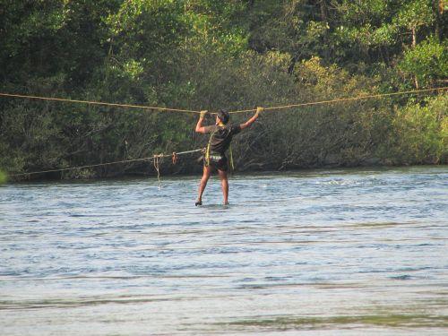 river crossing kali river india