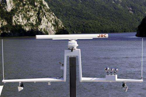 river danube iron gate ship's radar mast
