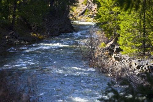 upė, vanduo, mėlynas, srautas, slenksčiai, balta, upė teka
