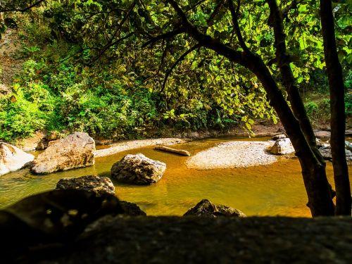 river landscape stones north thailand
