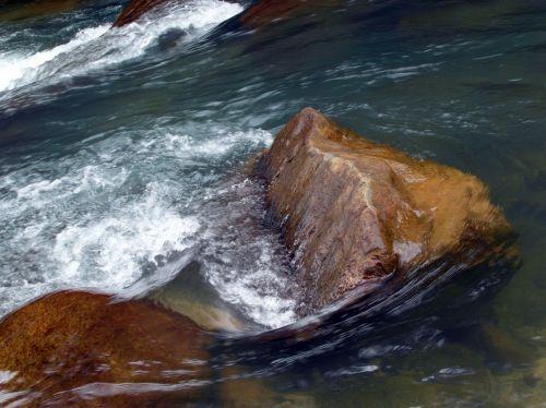 River Rapids Over Boulders