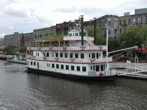 Riverboat Moored
