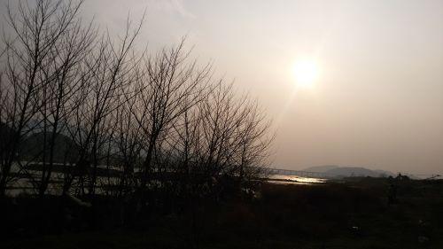 riverside sunset twilight