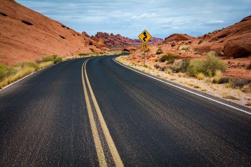 road highway desert