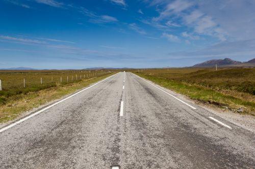 road scotland mountains