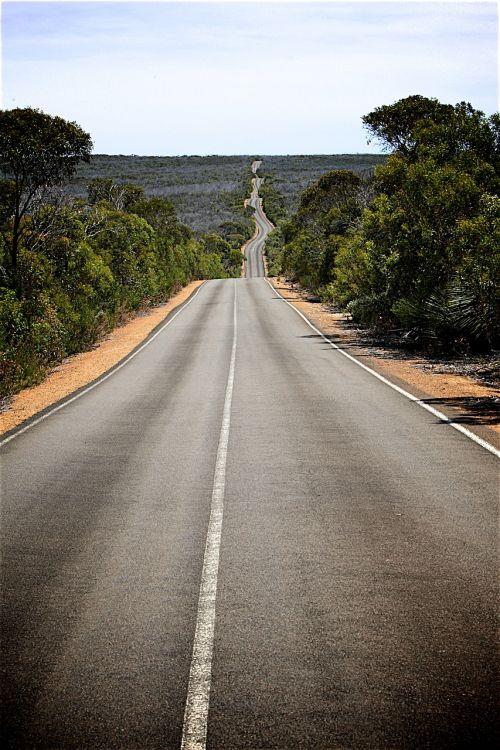 road pavement scenery