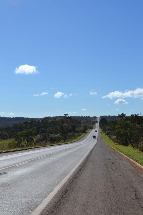road sky nature