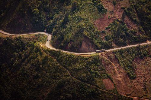 road truck curve