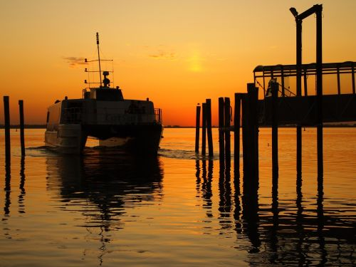 road sunset pier