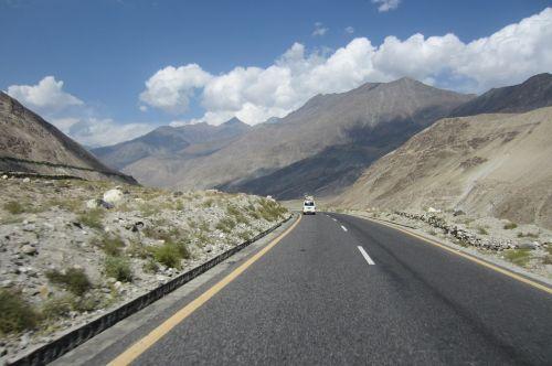 kelias,scena,peizažas,kalnai,kelias,kelias,Pakistanas,kelionė