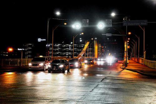 road lights headlights