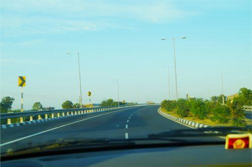 road driving dash