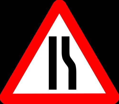 road narrows narrow
