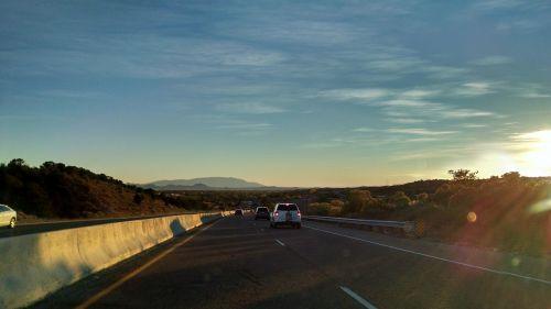 road sunrise road trip