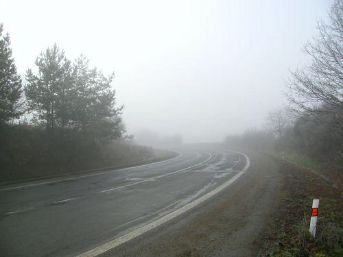 road secondary road fog