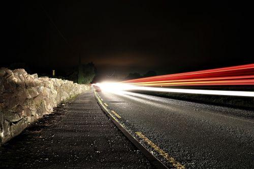 road night long exposure