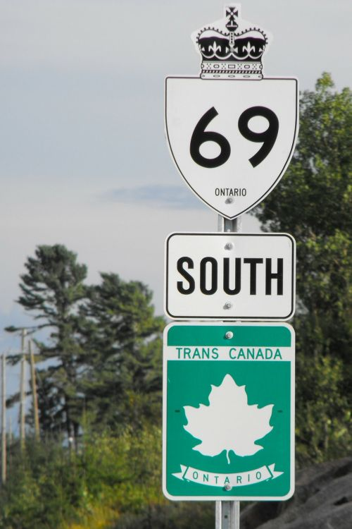 road sign landmark